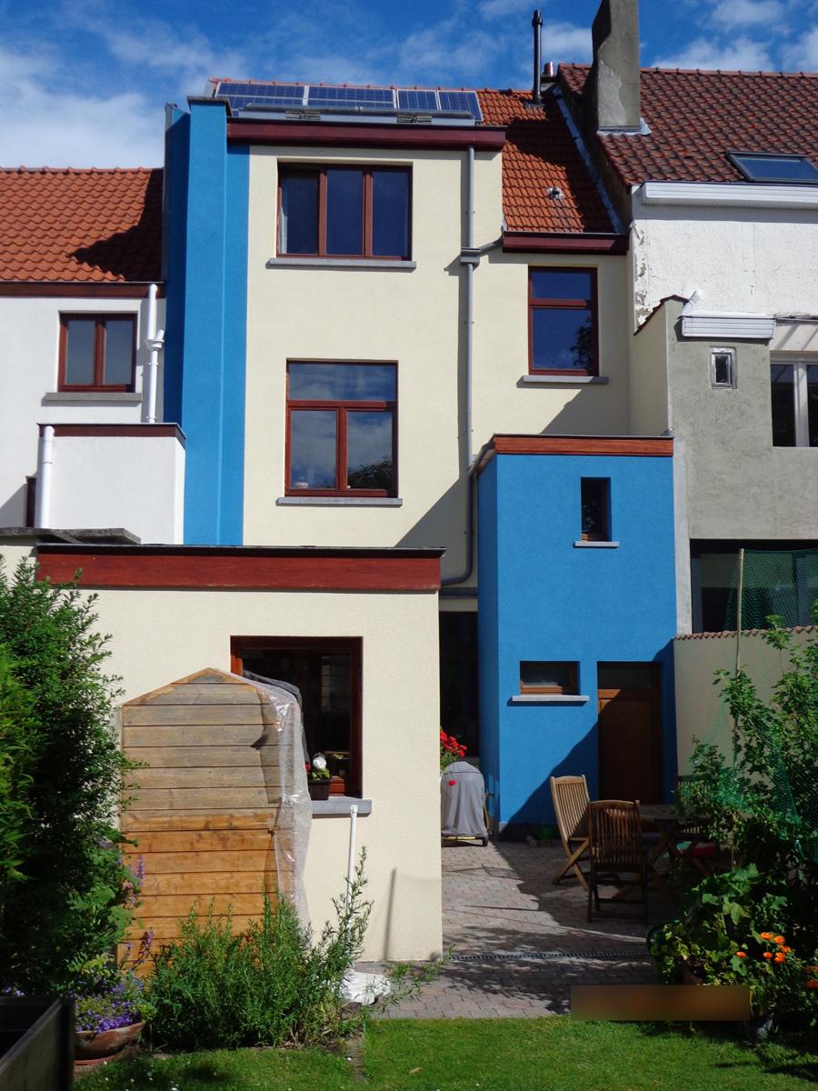 Après: Façade de maison après travaux d'enduits colorés