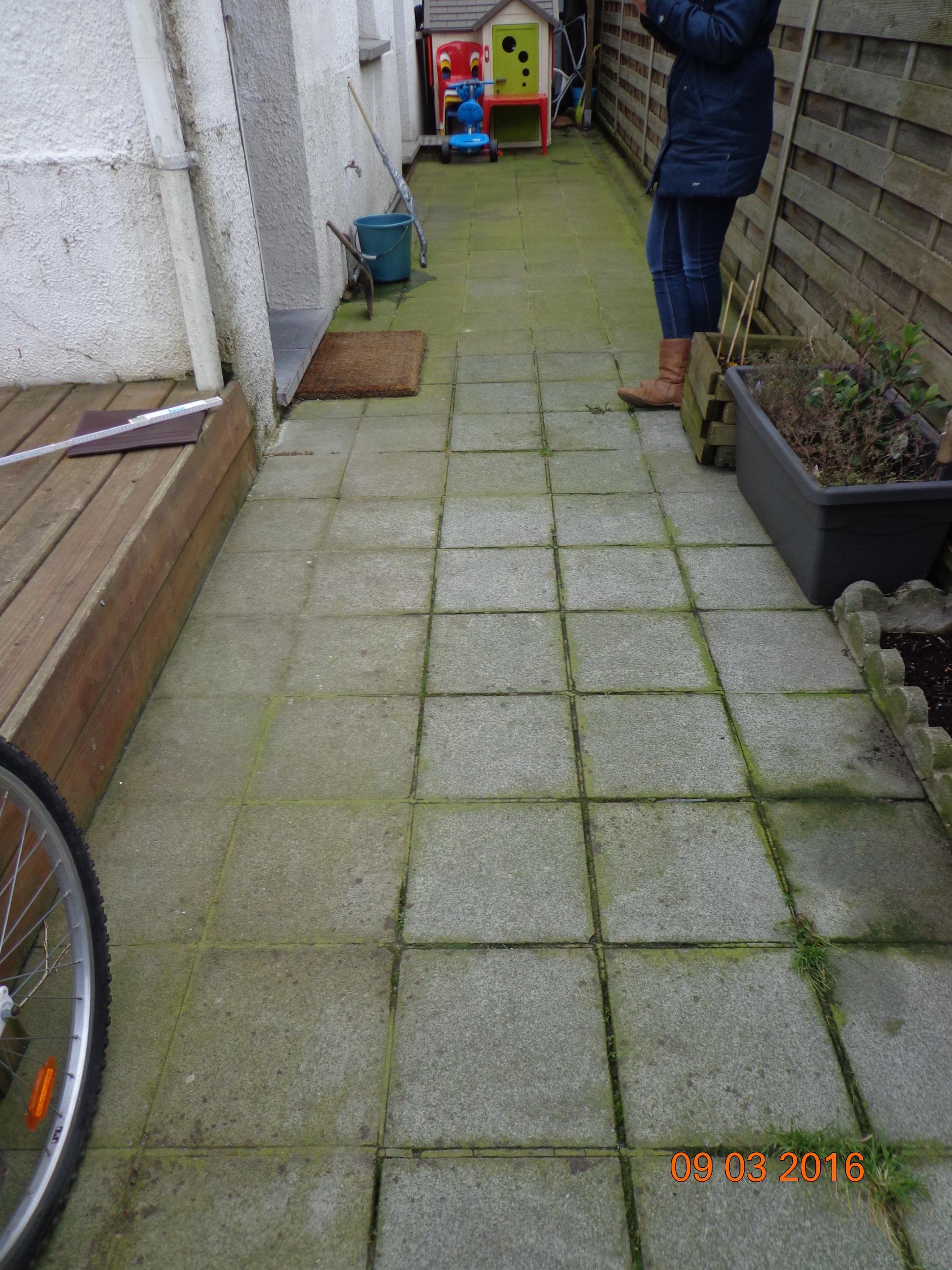Avant: Terrasse avant travaux de allées